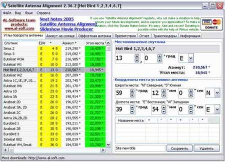 Eutelsat HotBird 13B/13C/13E каналы и частоты спутника